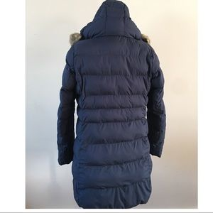 Uniqlo Jackets & Coats - Uniqlo mid length navy blue puffer coat jacket